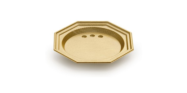 Mini Gold Octagonal Tray for Single Portions DM 6