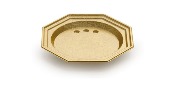 Mini Gold Octagonal Tray for Single Portions DM 9