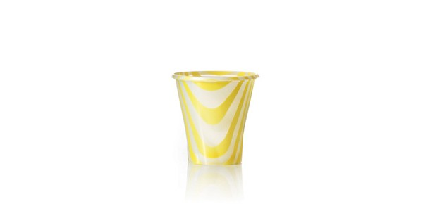 Yellow Glass for Smoothies and Granita 200 cc