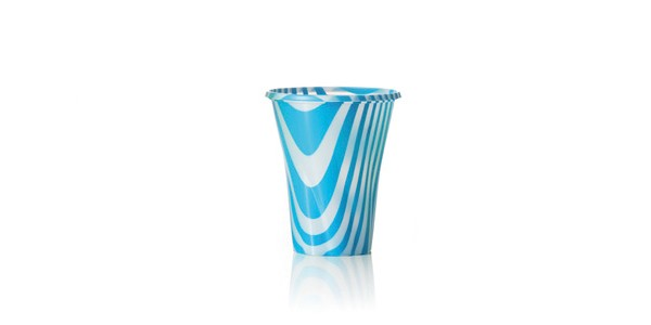 Light Blue Glass for Smoothies and Granita 250 cc