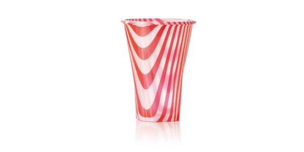 Red Glass for Smoothies and Granita 400 cc