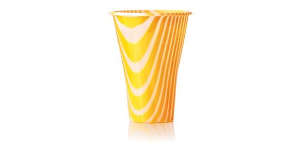 Orange Glass for Smoothies and Granita 500 cc