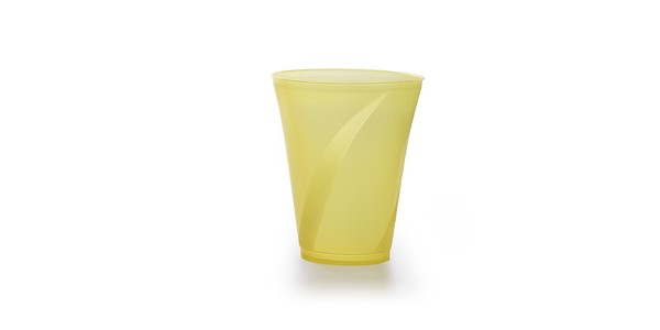 Yellow Durable Plastic Cup 300 cc